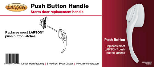 Larson Replacement Surface Mount Push Button Handle For Larson Storm And  Screen Doors At Menards®