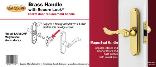 Larson Br Replacement Mortised Handle For Magnaseal Storm And Screen Doors At Menards