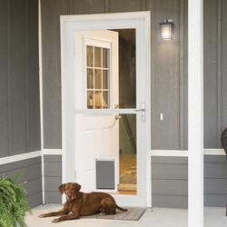 Larson 174 Lakeview Splitview Full View Storm Door At Menards 174