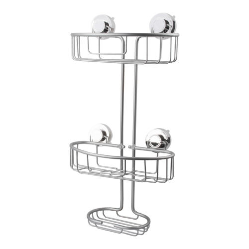 Tuscany Over The Showerhead Aluminum Suction Cup Shower