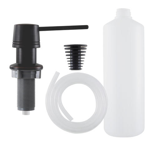 Plumb Works® Oil Rubbed Bronze Soap and Lotion Dispenser with Hose