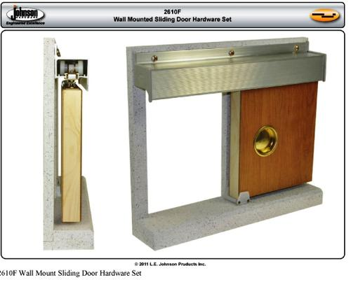 "Wall Mounted Sliding Door Hardware johnson hardware 72"" wall mount sliding door hardware kit at menards®"