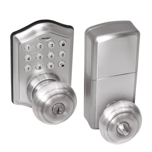 TruBolt Keyless Electronic Entry Touchpad with Interior Knob at