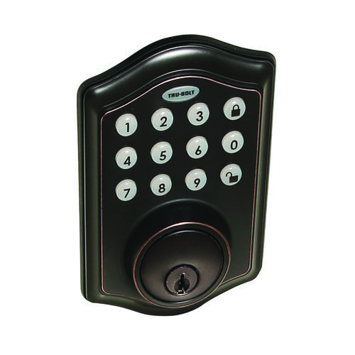 TruBolt Keyless Touchpad Electronic Deadbolt at Menards