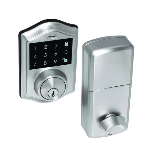 TruBolt Keyless Electronic Touchscreen Deadbolt with Remote at