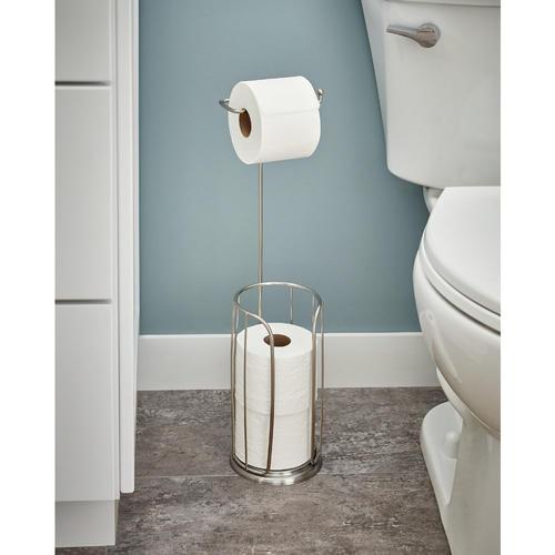 Franklin Brass Freestanding Toilet Paper Holder W Roll Reserve