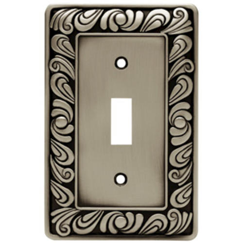 Franklin Brass Paisley 1 Gang Zinc Switch Wall Plate Brushed Satin Pewter At Menards