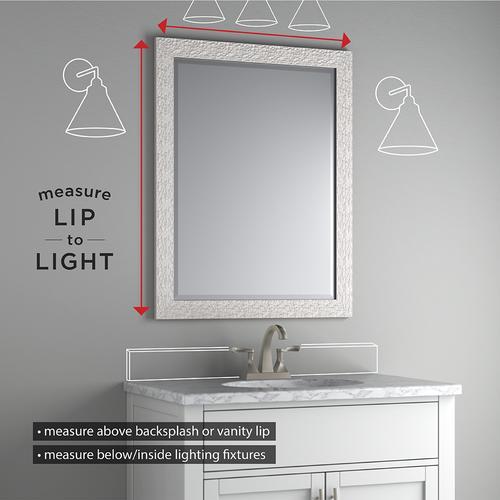 Delta 28 X 36 Medium M1 Deluxe Glass Framed Mirror At