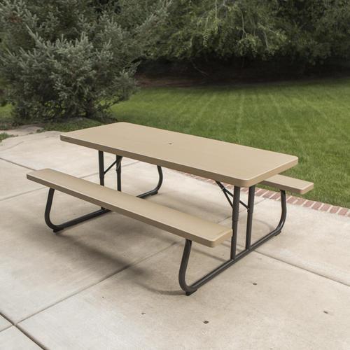Lifetime 6 Folding Picnic Table.Lifetime 6 Folding Picnic Patio Table At Menards