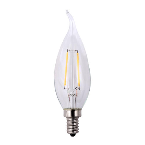 Led Light Bulb Candelabra Base: Lighting Science® 25W Equivalent Dimmable Flame Tip
