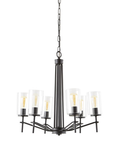 Patriot Lighting Nolie 6 Light Matte Black Chandelier At Menards