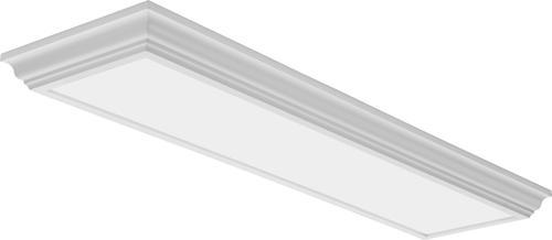 Lithonia Lighting Cambridge Linear 4ft White Led Flush Mount Ceiling Light