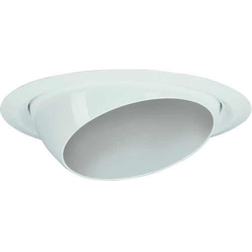 "Lithonia Lighting Recessed Downlight: 5"" White Eyeball Recessed Trim At Menards®"