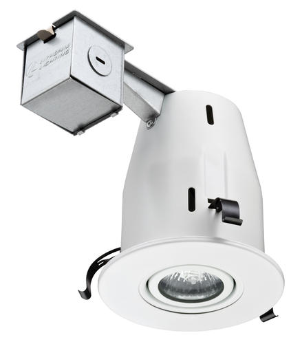 3 Quot White Recessed Gimbal Led Downlighting Kit At Menards 174