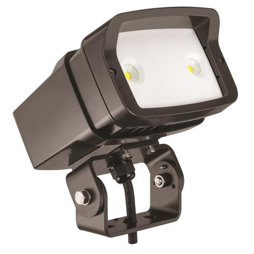Outdoor Flood Light Bulbs Menards: Lithonia Lighting 2130 Lumen OFL1 LED Bronze Outdoor 5000K