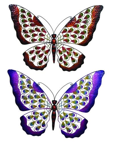 Enchanted Garden 23 Butterfly Outdoor Wall Art Assorted Styles