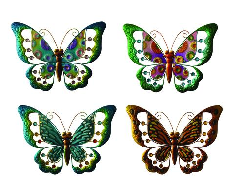 Enchanted Garden 12 Metal Butterfly Wall Art Assorted Styles At