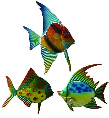 Enchanted Garden 13 Metal Fish Wall Art Assorted Styles At Menards