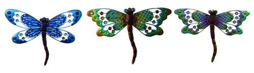 Enchanted Garden 13 Metal Dragonfly Wall Art Assorted Styles At
