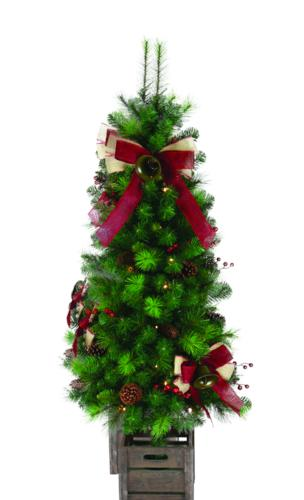 Pre Lit Outdoor Christmas Trees Battery Operated.Enchanted Forest 4 5 Prelit Led Battery Operated Burlap