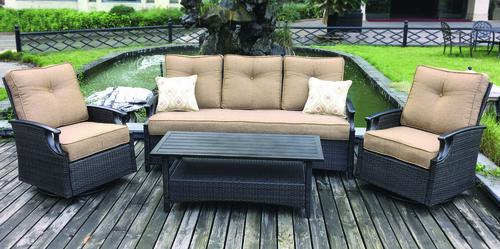 Backyard Creations Barton Creek 4 Piece Deep Seating Patio Set At