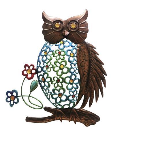 Enchanted Garden Metal Owl Wall Décor