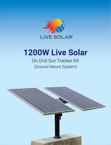 Live Solar 1200-Watt On Grid Sun Tracker Kit- Poly Ground