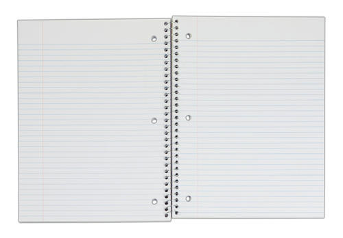 3 Subject Notebook College Ruled 120pg - Assorted Colors at