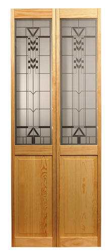 American Wood Corporation Artist Pine Half Panel Bi Fold Closet Door At Menards