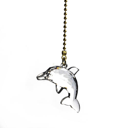 Clear Dolphin Ceiling Fan Pull Chain At