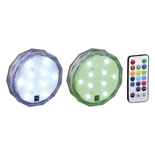 Patriot Lighting 174 Led Clear Battery Rgb Puck Light 2