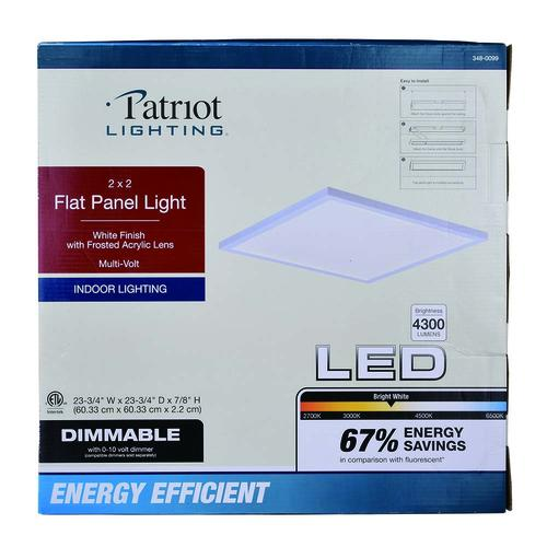 Patriot Lighting® 4300 Lu 2' x 2' LED Flat Panel Light ... on