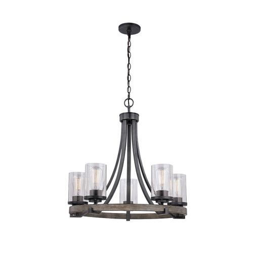 Patriot Lighting Elegant Home Brooklyn 5 Light Natural Iron