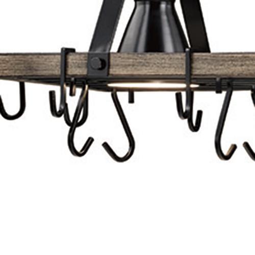 Patriot Lighting Elegant Home Bodhi Black And Replica Wood