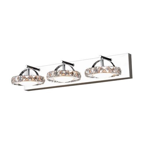 Patriot Lighting Elegant Home Crescent 3 Light Chrome Led