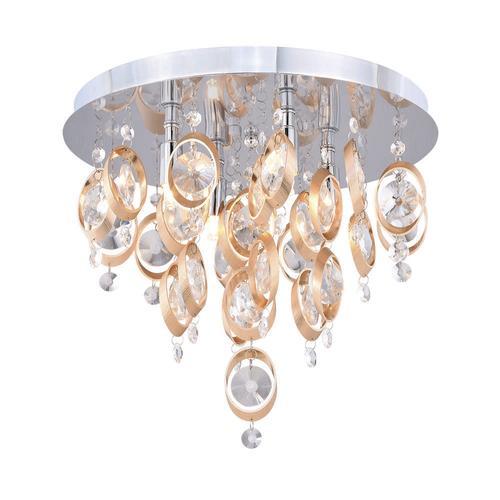 Patriot Lighting® Elegant Home Raina 4-Light Flush Mount Ceiling ...