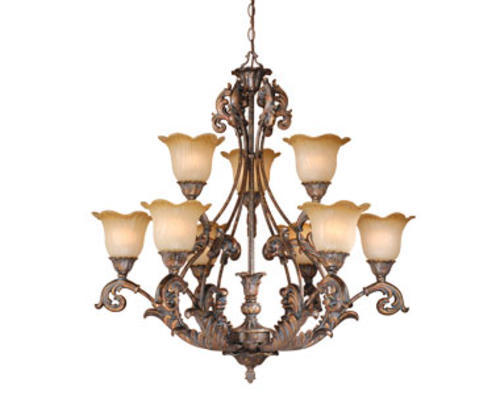 Patriot Lighting Seville 9 Light Aged Bronze Chandelier At Menards