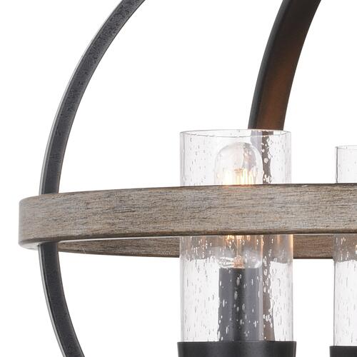 Patriot Lighting Elegant Home Brooklyn Natural Iron Distressed Faux Wood 3 Light Pendant At Menards