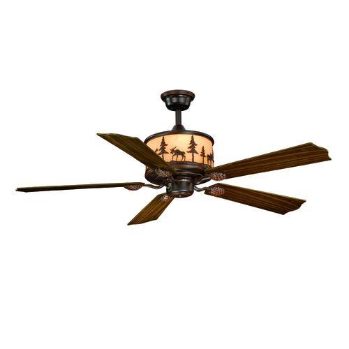 Burnished Bronze Indoor Ceiling Fan