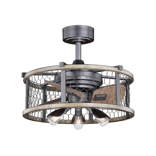 "Kitchen Island Light With Fan: Patriot Lighting® Brooklyn 21"" Natural Iron With"