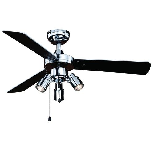 Chrome Indoor Led Ceiling Fan