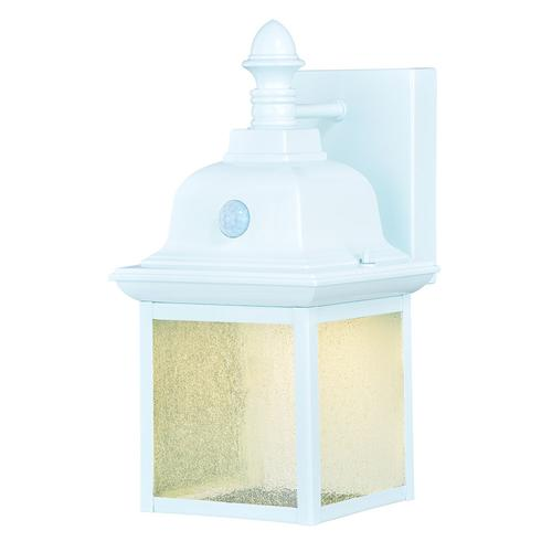 Patriot Lighting Breccan White Battery Operated Motion Sensor Led Outdoor Security Wall Light At Menards
