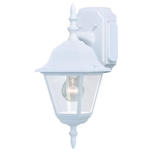 Patriot Lighting Provence Textured White 15 5 Outdoor Wall Light W Outlet