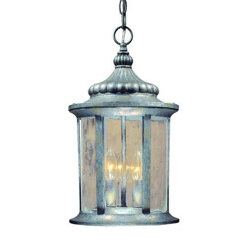 Patriot Lighting Valencia 18 Gilded Silver Outdoor Pendant Light At Menards