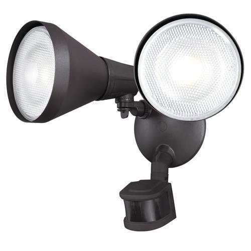 Outdoor Flood Light Bulbs Menards: Patriot Lighting® Dual Head Motion Sensor Outdoor Security
