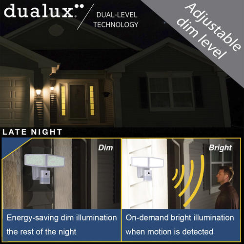 Patriot Lighting 174 Dualux White Led Dual Head Security