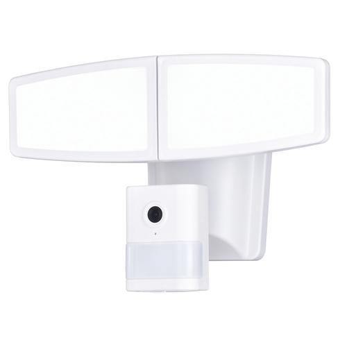 Patriot Lighting Dualux White Led Dual Head Outdoor Motion Sensor Security Flood Light With Wifi