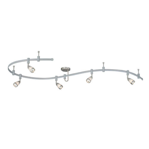 Quantus 108 Satin Nickel Contemporary Track Lighting At