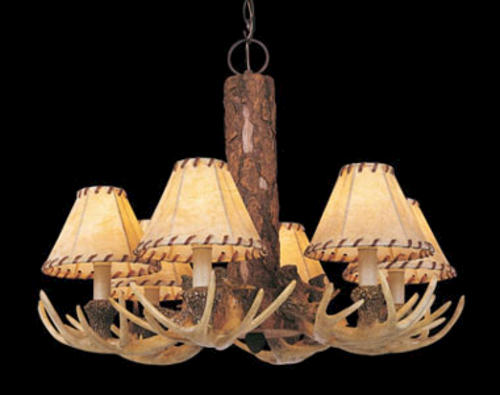 Patriot lighting yosemite 24 noachian stone traditional 6 light chandelier at menards