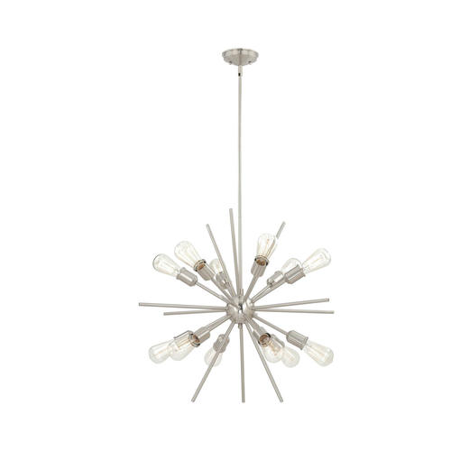 Patriot lighting oscar 275 satin nickel transitional 12 light patriot lighting oscar 275 satin nickel transitional 12 light chandelier at menards aloadofball Choice Image